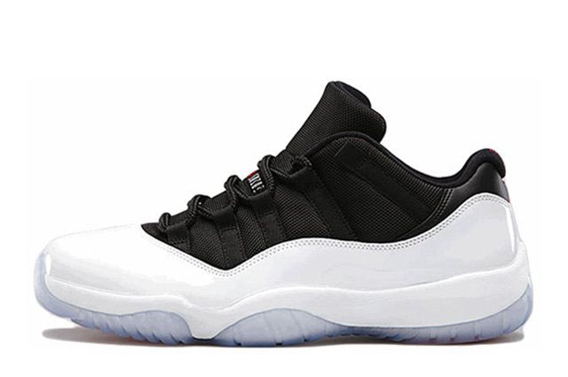 Men's Air Jordan 11 Retro Low White/Black-True Red Basketball Shoes