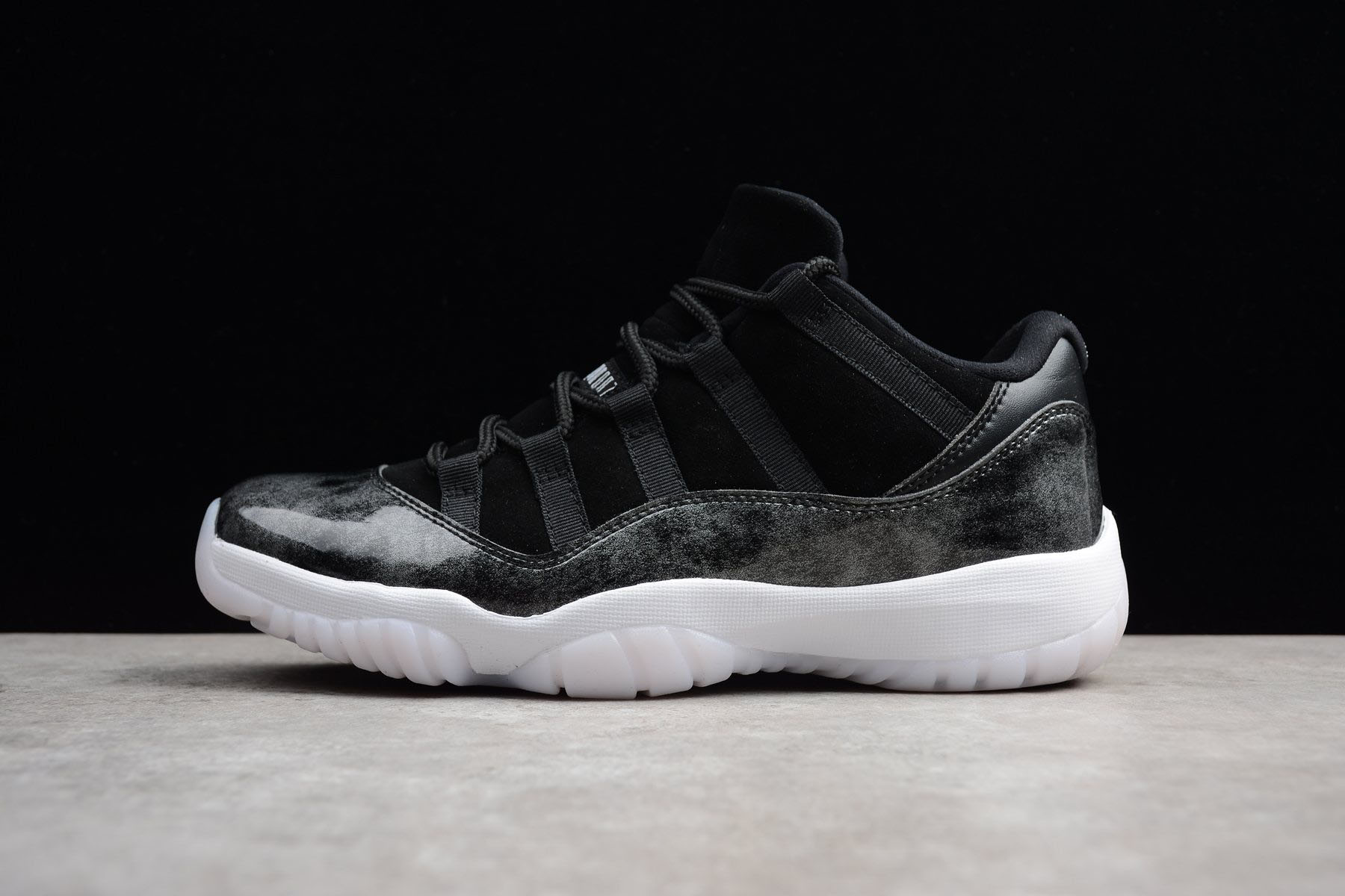New Air Jordan 11 Retro Low Barons Black/Metallic Silver-White 528895-010