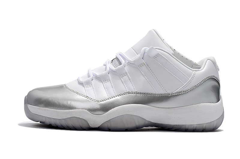 New Air Jordan 11 Retro Low White/Metallic Silver 833001-102