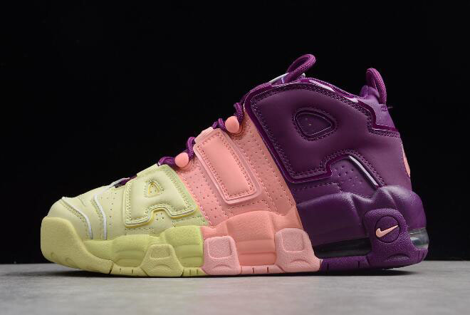 "Nike Air More Uptempo GS ""Lucky Charms"" Citron/Pink/Bright Purple-Night Grape AV8237-800"