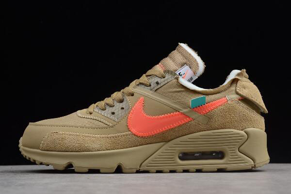 "2019 Off-White x Nike Air Max 90 ""Desert Ore"" AA7293-200"