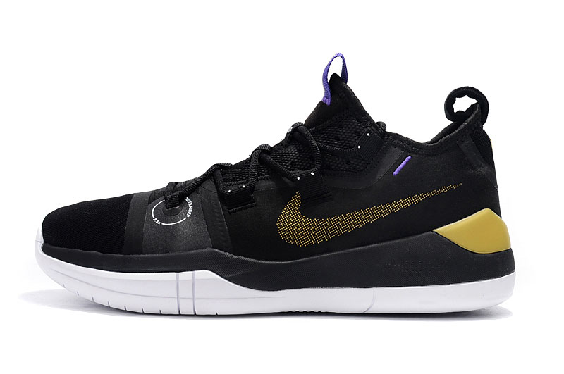 Kobe Bryant Nike Kobe AD Black/Metallic Gold-Purple-White