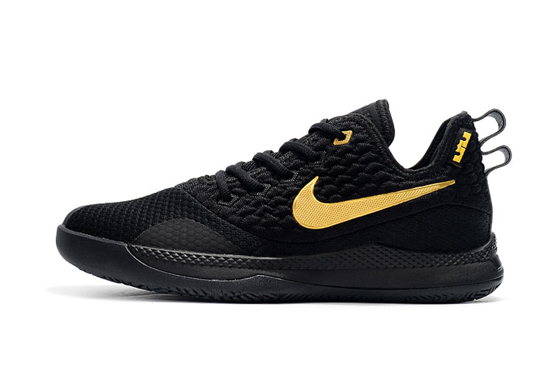 Nike LeBron Witness 3 Black Gold Basketball Shoes
