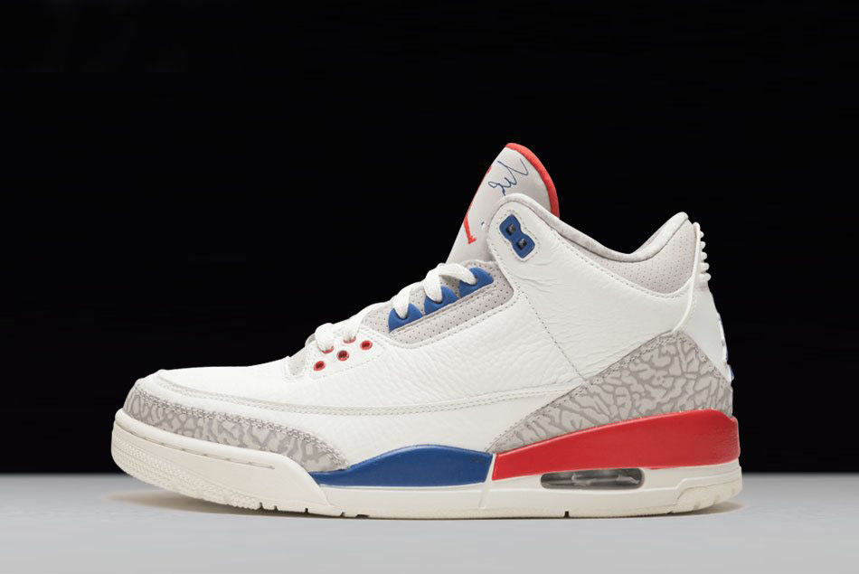 2018 Air Jordan 3 International Flight Sail/Sport Royal-Light Bone-Fire Red 136064-140