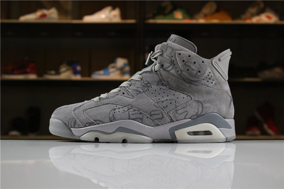 KAWS x Air Jordan 6 DIY Personal Tailor Cool Grey For Sale