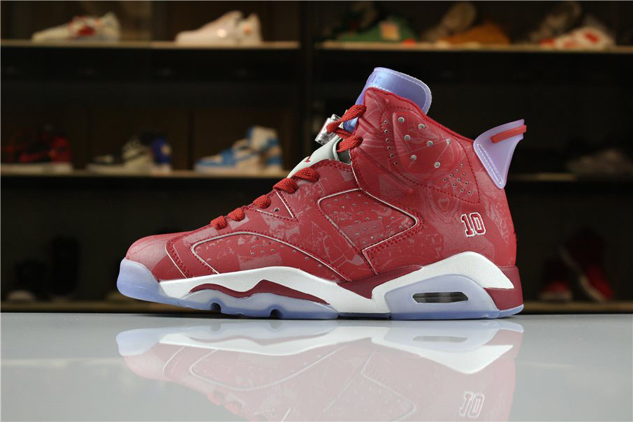 Air Jordan 6 Slam Dunk Varsity Red/White 717302-600 For Sale