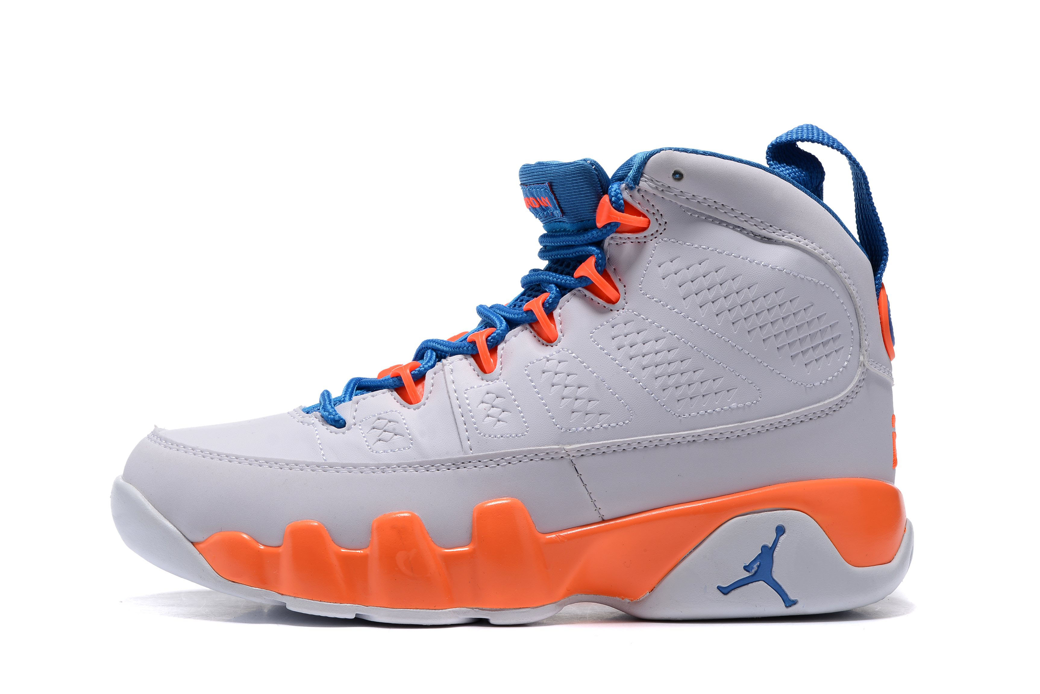 Air Jordan 9 Retro GS Fontay Montana Pure Platinum/Game Royal-Mandarin 302370-040