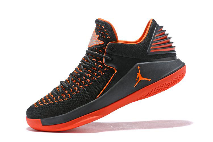 New Air Jordan 32 Low Black Orange Men's Basketball Shoes