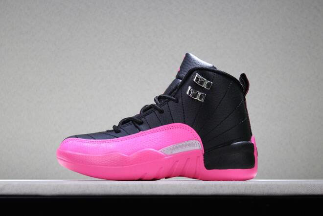 Kid's Air Jordan 12 Deadly Pink Free Shipping